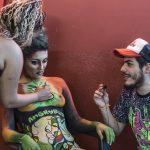 Media Guy Interview BodyArt Model at CannabisCupMontevideo 2017