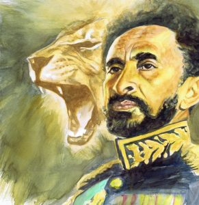 King Haile Selassie Artwork for home decoration and interior design, spotted at AfroTriangleDesigns.com