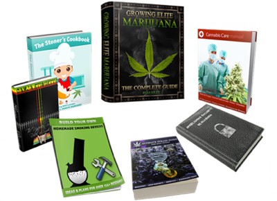 Marijuana Grow Bible package includes the famous weed grow book itself + BONUS set of books and a few audio-books for growing cannabis, cultivating, consumption, and all the indoor and outdoor guides + led-lights + etc + etc