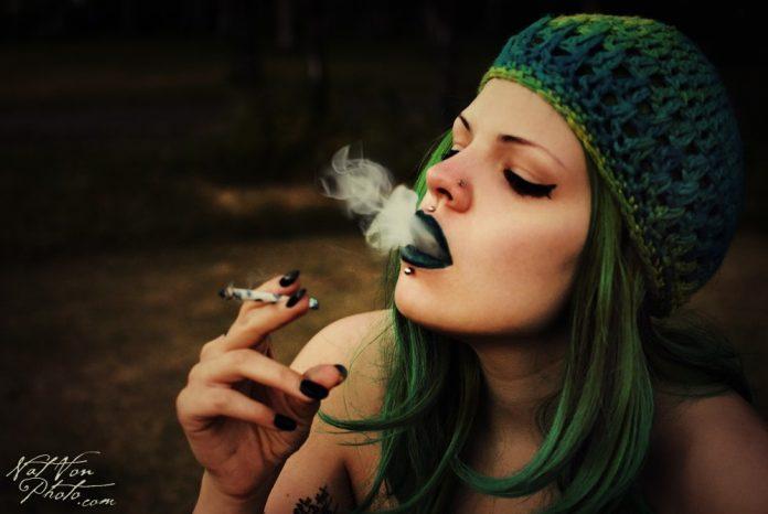 Ganja Smoking Girl