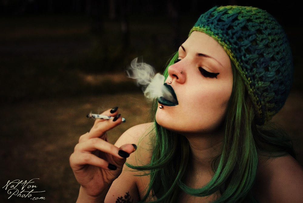 Ganja Smoking Girl