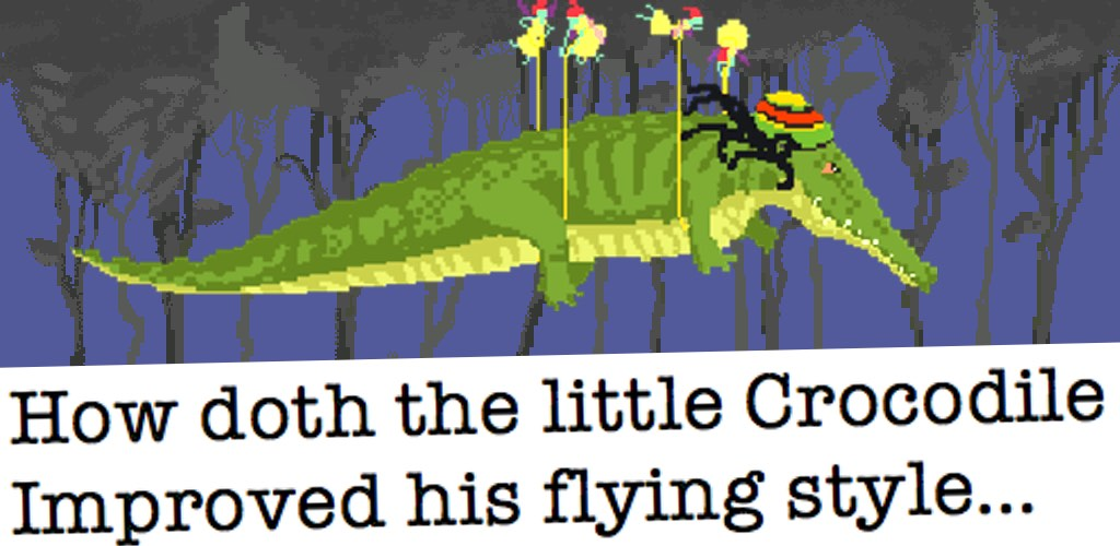 The weed game: Flying Croc Simulator - android game - How doth the little crocodile, improved his flying style