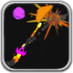 Asteroids space-game shooter for Android smartphones