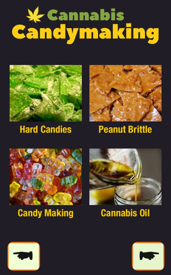 Cannabis Candymaking recipe - screenshot from the Cookbook 420 app