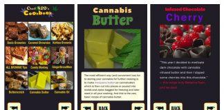 Marijuana Edibles Cookbook App Screenshots