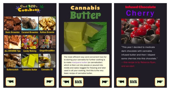 Marijuana Edibles Cookbook App Screenshots