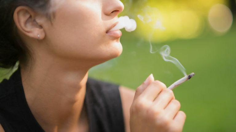 Vape vaping marijuana girl