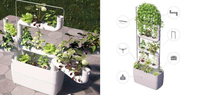 Supragarden's image of the Vertical Hydroponic Gardens - supraden.com