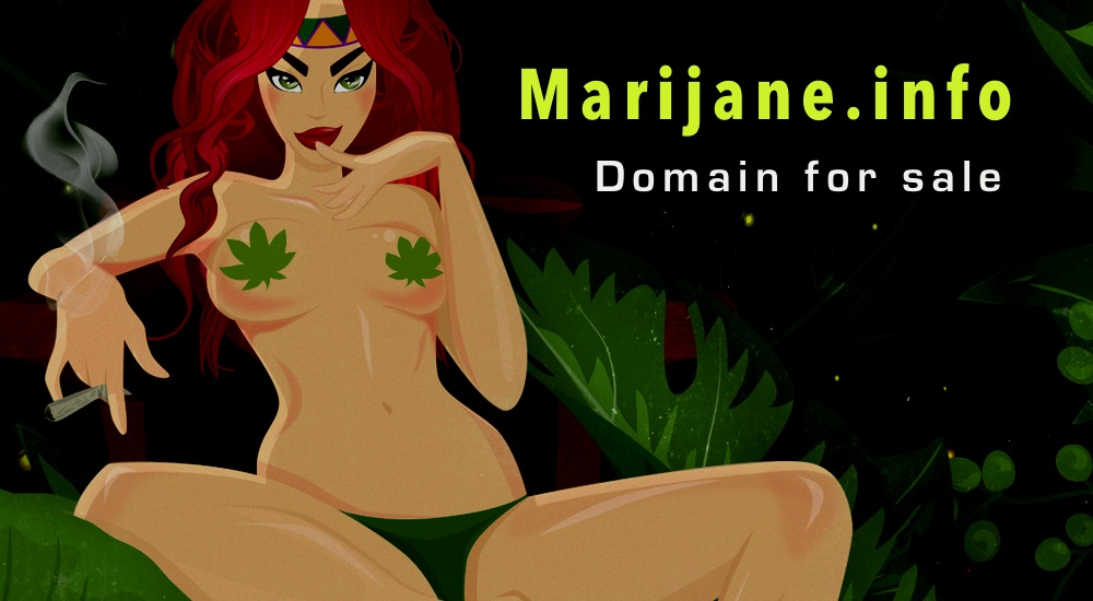 Marijane.info - classic TLD to buy the oneword cannabis domain